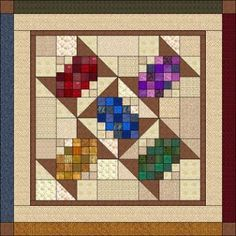 Humble Bee Buzzings:  free pattern site is down, but I love this spool quilt.  Looks doable.