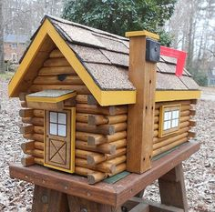 Log Cabin Mailbox Handcrafted Shingles Doors And By CarvedByHeart