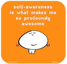 Self-awareness is what makes me so profoundly awesome