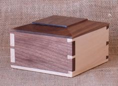 Unique Dovetailed Box: Tails Around The Corner number 2. $55.00, via Etsy.