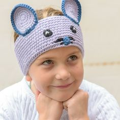 Easy Crochet Mouse Muffs! Warm Your Ears!!