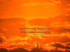 Sunset, Fire, Sky, Angel, Love, Mercy - Original Photograph # 0314 by…