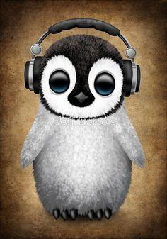 Cute Elephant Cartoon Wallpapers Cute Baby Penguin Wearing Eye Glasses On Blue Jeff