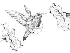 Check out my brand new art piece! Art Print Wildlife Art Stippled Pen and Ink by FlutterbyCreatives Hummingbird Tattoo Black, Hummingbird Drawing, Flor Tattoo, Diy Tattoo, Ink Pen Drawings, Bird Drawings, Black And White Wall Art, Black And White Drawing, Lilies Drawing