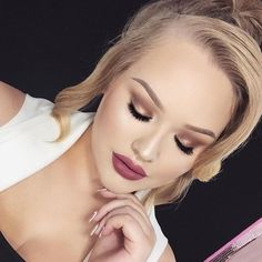 Dusty Rose Lips + Sparkly Eyes @nikkietutorials #ABH Dusty Rose release date is today, August 3, 2015
