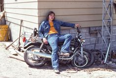 I met this guy while touring through Canada. This was a photo of his first bike, back in '75.