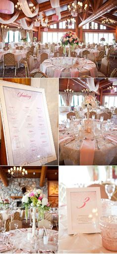 #Soft Pink Wedding... Wedding ideas for brides, grooms, parents  planners ... http://itunes.apple.com/...  plus how to organise an entire wedding  The Gold Wedding Planner iPhone App