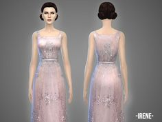 The Sims Resource: Irene - gown by April • Sims 4 Downloads