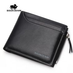 Cheap billfold wallet, Buy Quality purse directly from China purse case Suppliers: BISON DENIM  2016 Functional Men Wallets Genuine Leather Bifold Wallet Card Holder Coin Purse Pockets Zipper Wallets