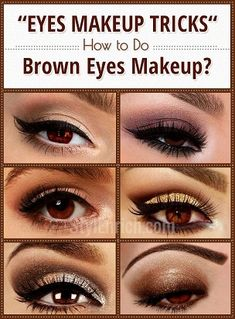 Shimmer Brown Eyes Makeup For Party Looks