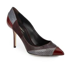 Dolce & Gabbana | Mixed Leather Pumps | SAKS OFF 5TH