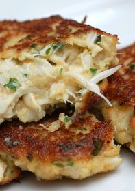 Crazy-Good Crab Cakes! Create a horsey sauce from cream horseradish and mayo, and add a dash of dill weed! Serve with the cheese biscuits and corn on the cob or roasted red potatoes.