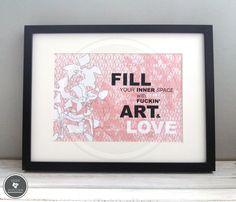 Kunstdruck | ART & LOVE von Pens N' Popcorn auf DaWanda.com