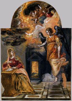 Annunciation by  El Greco ~ 1568