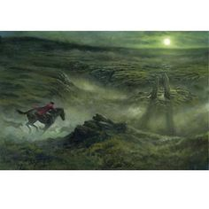 Personally signed by Chesley Award-winning artist Matthew Stewart | THE HOUND OF THE BASKERVILLES