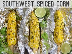 Southwest Spiced Corn - incredibly tasty and super easy! I added some cayenne and cut back on the cumin a bit (because I'm not a big fan of it). Nomnomnom!
