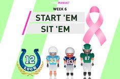 Start 'Em & Sit 'Em for Week 6 Ems, Content, People, People Illustration, Folk