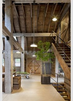 What do you think of incorporating wood beams into our space? Open barn concept