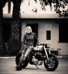 "The Honda ""KT600"" by Classified Moto Named for it's donor bike Honda Enduro 600 and owner (BSG's Starbuck) Katee Sackhoff (squeee!)"