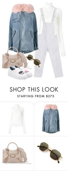 """""""Untitled #2628"""" by camila-echi ❤ liked on Polyvore featuring Dsquared2, Mr & Mrs Italy, Balenciaga and Chiara Ferragni"""