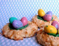 Bird's Nest Cookies. So cute!