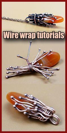 Wire Pendant, Wire Wrapped Pendant, Wire Wrapped Jewelry, Wire Jewelry Designs, Handmade Wire Jewelry, Wire Jewelry Patterns, Wire Tutorials, Jewelry Making Tutorials, Wirework Jewelry Tutorials