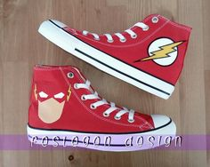 The Flash Custom Painted Converse Shoes
