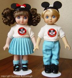 "marie osmond disney mouseketeer dolls | Mouseketeers"" are hallmarked on the backsof their necks with Marie ..."