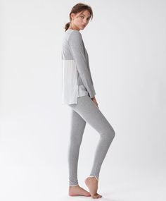 Oysho - Long sleeved striped T-shirt
