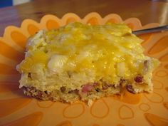 Breakfast Casserole with crescent rolls and hash brown potatoes