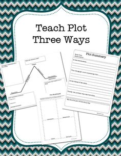 Teaching Plot 3 ways. This pack includes three handy worksheets that you can use to teach and practice understanding of plot. Also includes a plot diagram, a plot visualization storyboard page and a plot summary sheet. Teaching Plot, Teaching Reading, Teaching English, English Class, Reading Activities, Comprehension Strategies, Teaching Strategies, Reading Comprehension, Graphic Organizer For Reading