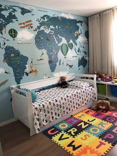 healthy breakfast ideas for kids age 9 to make 3 12 11 Boy Toddler Bedroom, Baby Boy Room Decor, Boys Bedroom Decor, Baby Boy Rooms, Bedroom Wall, Girls Bedroom, Ideas Habitaciones, Kids Room Design, Art Wall Kids