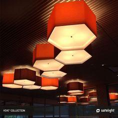 Hive Pendant Lighting Collection   Satelight   Hexagon Soft Lamp Shade  Pendant Lights Cover The Interioru0027s