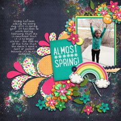 Digital Scrapbook Page by Britt  | Snap Happy - March by Bella Gypsy