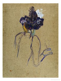 Henri de Toulouse-Lautrec. Jane Avril, Back-View, circa 1891-1892. From All Posters.