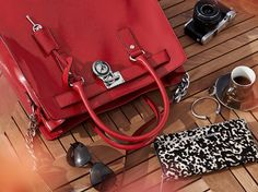 Red Hamilton Michael Kors Bag