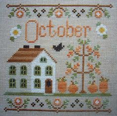 Thrilling Designing Your Own Cross Stitch Embroidery Patterns Ideas. Exhilarating Designing Your Own Cross Stitch Embroidery Patterns Ideas. Fall Cross Stitch, Cross Stitch House, Mini Cross Stitch, Cross Stitch Samplers, Cross Stitch Kits, Counted Cross Stitch Patterns, Cross Stitch Charts, Cross Stitch Designs, Cross Stitching