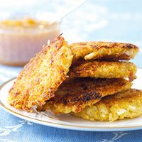 Cauliflower-Curry Latkes! Yummy! Yummy! This would be great for Brunch!