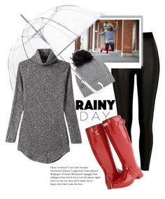 """""""Play with Rain"""" by egaemgyu on Polyvore featuring River Island, Hunter, Woolrich, ShedRain and rainyday"""