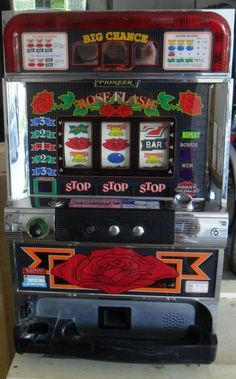 QUARTER / TOKEN ROSE FLASH PACHISLO SLOT MACHINE, 268 PAGE MANUAL | Collectibles, Casino, Slots | eBay!