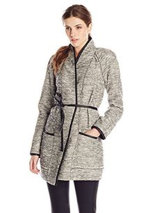 Rebecca Taylor Women's Stretch Tweed Coat, Black/White Combo, 4 *** Read more reviews of the product by visiting the link on the image.
