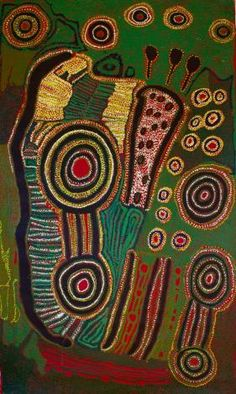 Iyawi Wikilyiri, Ngarutjara, 2012, Acrylic on linen,118 x 200 cm. Aboriginal and Pacific Art, Sydney.