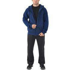 Russell Men's Fleece Full Zip Hood, Size: XL, Blue