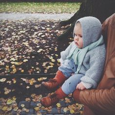 knits, leggings and booties - perfect ensemble for a cold autumn day for little bub