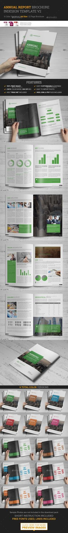 Annual Report Brochure Indesign Template v2 - Corporate Brochures