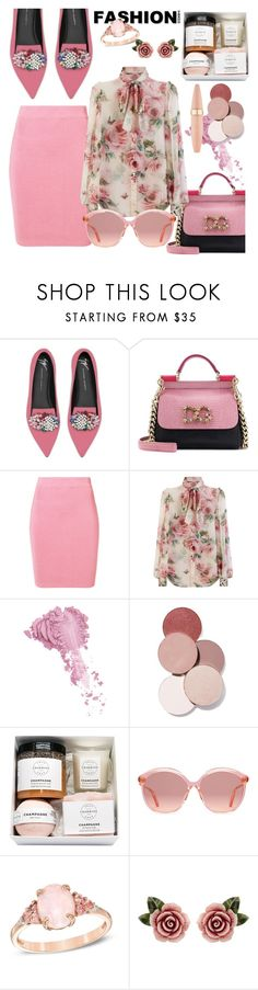 """""""Pinky"""" by edyta-murselovic ❤ liked on Polyvore featuring Giuseppe Zanotti, Dolce&Gabbana, T By Alexander Wang, Bésame, LunatiCK Cosmetic Labs, Gucci and Maybelline"""
