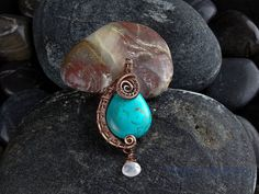 Hey, I found this really awesome Etsy listing at https://www.etsy.com/listing/264421544/wire-wrapped-turquoise-bead-pendant