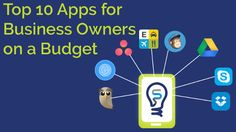 A new infographic from Smarter Business has complied affordable apps for budget conscious business owners. Here are 10 cheap apps to consider. Export Business, E Commerce Business, Business Marketing, Small Business Trends, Business Goals, Business Tips, National Small Business Week, Interactive Presentation, Good Communication