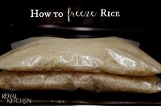 Learn how to How To Freeze Rice. This will save you so much time and money.