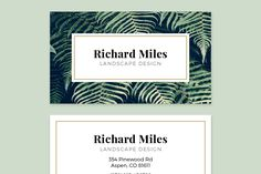 Business Card Template - FLORA by PhotoMarket on @creativemarket